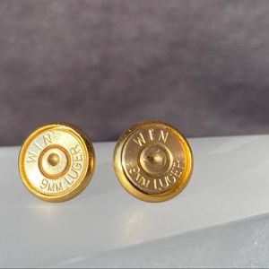 9mm Luger Stud Earrings